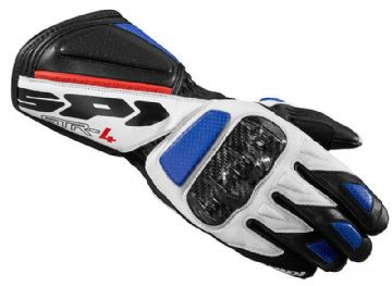 Spidi STR-4 Leather Race Motorcycle Gloves - Blue XXL